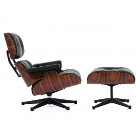 Кресло Eames Style Lounge Chair & Ottoman черная кожа/палисандр S00049 ОРИГИНАЛ