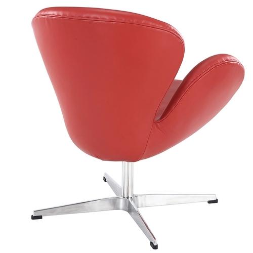 Кресло Arne Jacobsen Style Swan Chair ОРИГИНАЛ красная кожа S00207