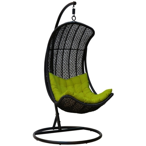 Кресло подвесное Агава с подставкой чёрное vv