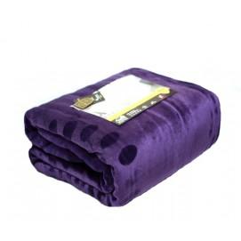 Плед 220х240 прес фиолетовый amor