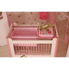 Люлька с комодом 121319 Teddy pink