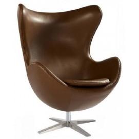 Кресло Эгг, кожзам коричневый Mebelmodern