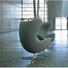 Кресло Эгг, кожзам белый Mebelmodern