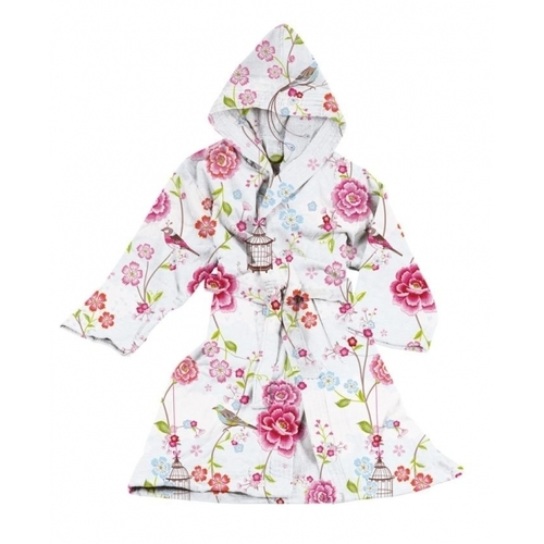 Халат Birds in Paradise bathrobe white XXS-Xl