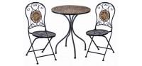 Металлическая садовая мебель и декор
