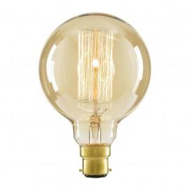 Лампочка Эдисона E27 G80 40W 2700K Amber 220V янтарное стекло Thexata
