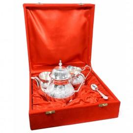 Набор чайник, сахарница, ложка и кувшин для молока (ФА-нр-76)